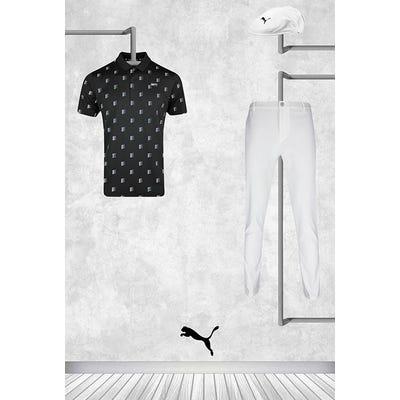 Bryson DeChambeau - Masters Thursday - Black PUMA Golf Shirt 2021