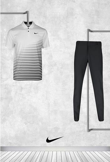Cameron Champ - Masters Saturday - Striped Nike Golf Shirt 2021