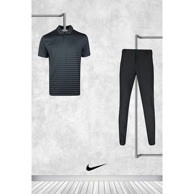 Cameron Champ - Masters Sunday - Black Nike Golf Shirt 2021