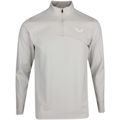 Castore Golf Pullover - Brushback Jersey QZ - Grey AW21
