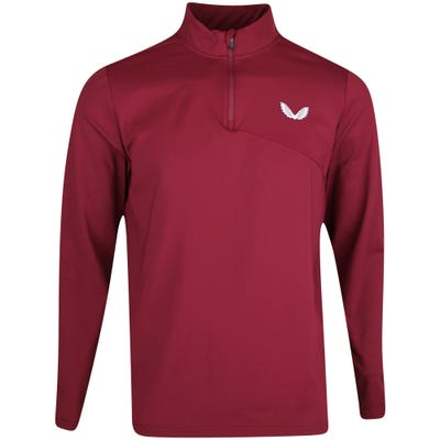 Castore Golf Pullover - Brushback Jersey QZ - Maroon AW21