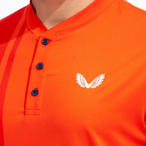 Castore Golf Shirt - Performance Blade Polo - Orange SU21
