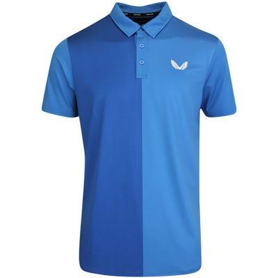 Castore Golf Shirt - Performance Colour Block Polo - Blue SU21