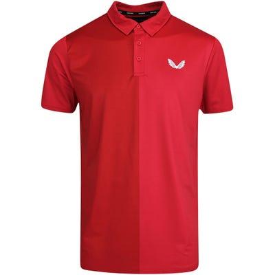 Castore Golf Shirt - Performance Colour Block Polo - Red SU21