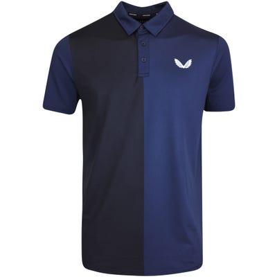 Castore Golf Shirt - Performance Colour Block Polo - Navy SU21