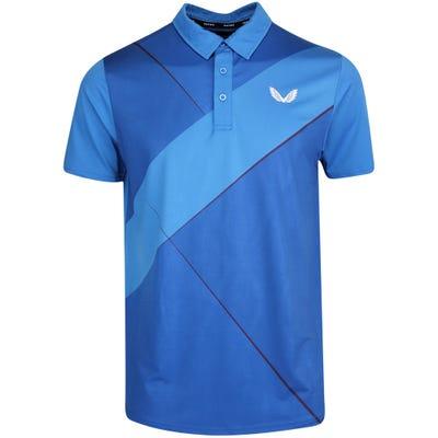 Castore Golf Shirt - Performance Cross Polo - Blue SU21