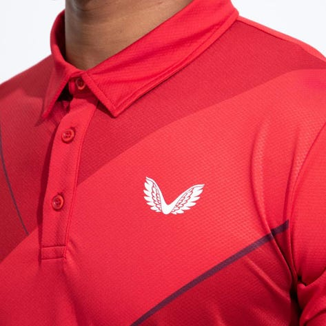Castore Golf Shirt - Performance Cross Polo - Red SU21