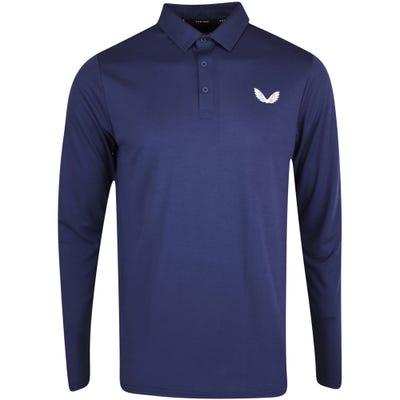 Castore Golf Shirt - LS Pique Polo - Navy AW21