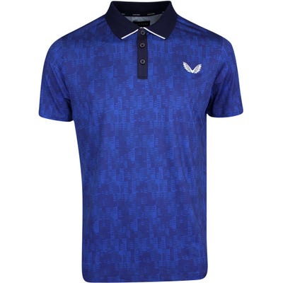 Castore Golf Shirt - Performance Geo Polo - Cobalt Blue SS21