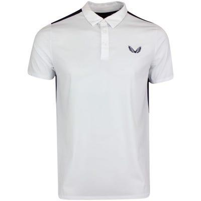 Castore Golf Shirt - Performance Mesh Polo - White SS21