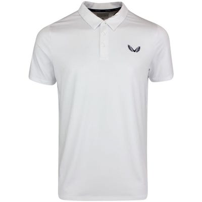 Castore Golf Shirt - Performance Pique Polo - White SS21