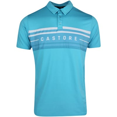 Castore Golf Shirt - Panel Printed Polo - Aqua AW21