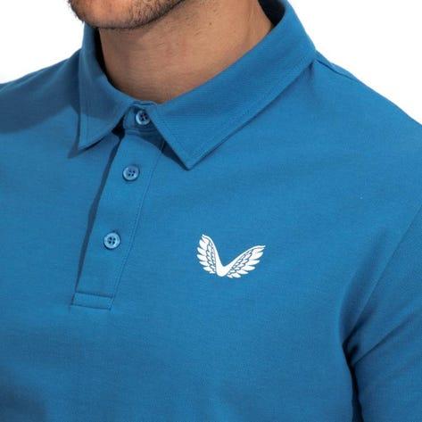 Castore Golf Shirt - Performance Pique Polo - Blue SU21