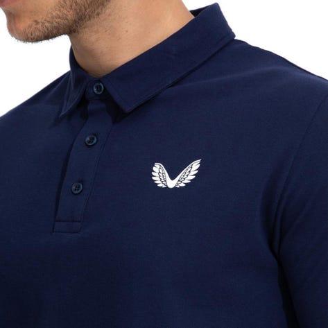 Castore Golf Shirt - Performance Pique Polo - Navy SU21