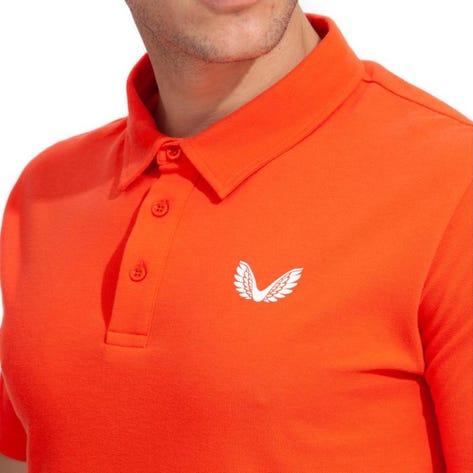Castore Golf Shirt - Performance Pique Polo - Orange SU21