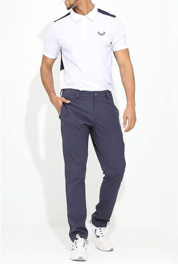 Castore Golf - White Navy Performance Mesh Polo - Campaign SS21