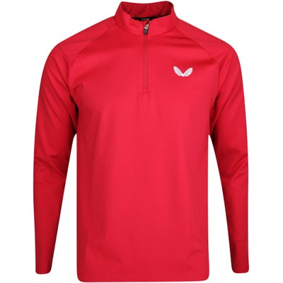 Castore Golf Pullover - Performance Jersey QZ - Red SU21