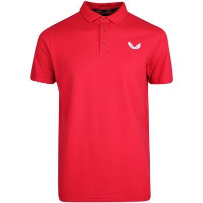 Castore Golf Shirt - Performance Pique Polo - Red SU21