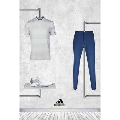 Collin Morikawa - Masters Friday - adidas Blade Collar Golf Shirt 2021