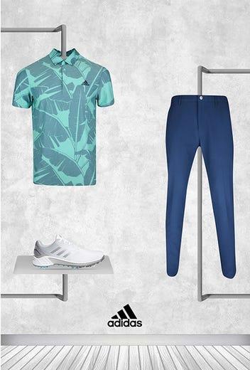 Collin Morikawa - US PGA Sunday - Printed Leaf adidas Shirt 2021