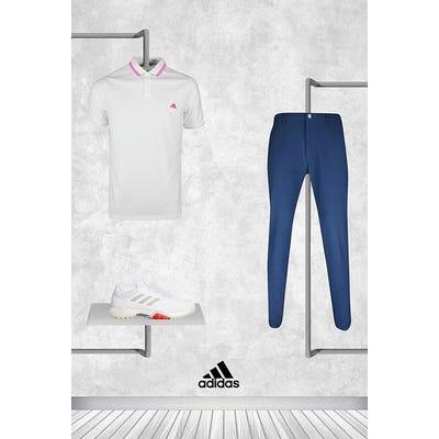 Daniel Berger - Masters Thursday - adidas Pique Golf Shirt 2021