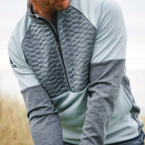 adidas Golf Jacket - Frostguard QZ - Collegiate Navy HTR AW19