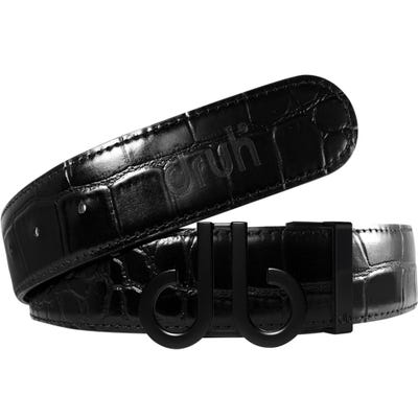Druh Golf Belt - Crocodile Tour Leather - Triple Black 2021