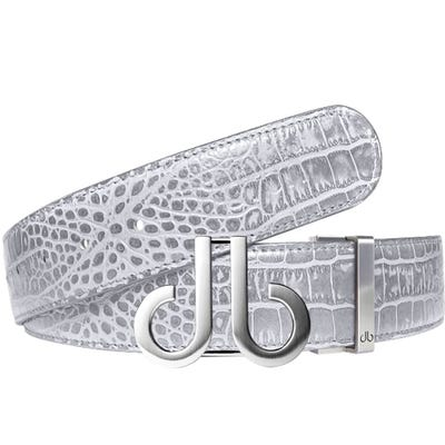Druh Golf Belt - Crocodile Tour Leather - Light Grey 2021