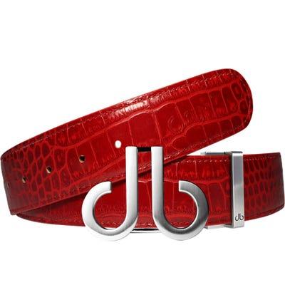 Druh Golf Belt - Crocodile Tour Leather - Red 2021