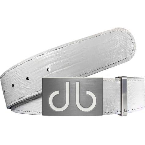 Druh Golf Belt - Lizard Tour Leather - White 2021