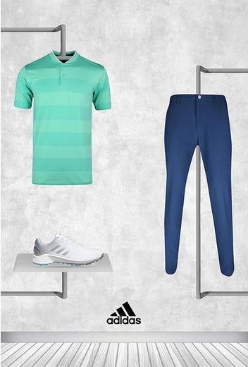 Dustin Johnson - US PGA Thursday - adidas Blade Collar Polo 2021