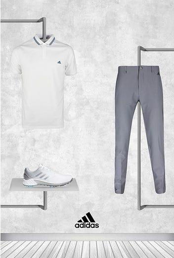 Dustin Johnson - US PGA Friday - White adidas Polo 2021