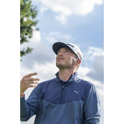 Ewen Ferguson - Blue PUMA Golf Pullover - Campaign 2020