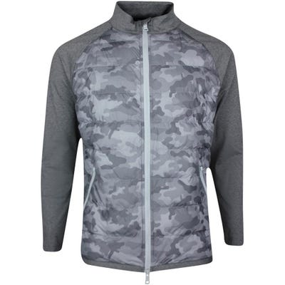 G/FORE Golf Jacket - The Shelby Quilted Camo FZ - Charcoal SS21