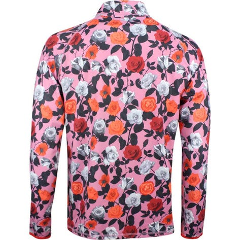 G/FORE Golf Pullover - Roses Mid - Pink Floral SS19