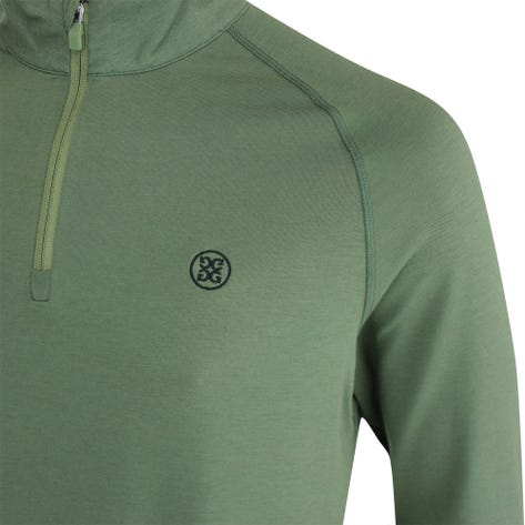 G/FORE Golf Pullover - Luxe Staple Mid - Olive FA21
