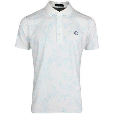 G/FORE Golf Shirt - Abstract Floral Polo - Snow - Fiji FA21
