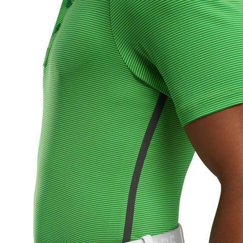 G/FORE Golf Shirt - Feeder Stripe Polo - Jade Green SS20