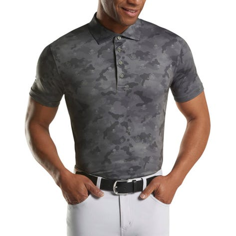 G/FORE Golf Shirt - Icon Camo Polo - Charcoal FA20