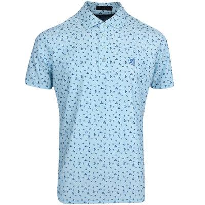 G/FORE Golf Shirt - Micro Floral Polo - Fiji FA21