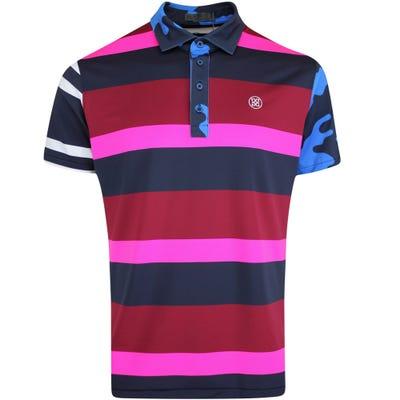 G/FORE Golf Shirt - Mixed Media Polo - Cabernet FA21