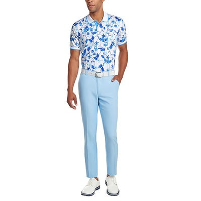 G/FORE - Blue Floral Golf Polo - Campaign SS21