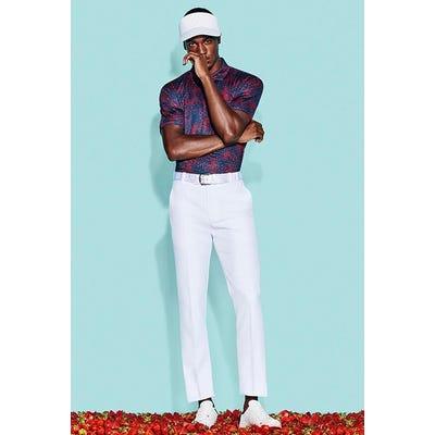 G/FORE - Navy Red Printed Golf Polo - Campaign SS21