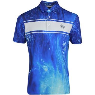 Galvin Green Golf Shirt - Manfred Print - Blue - White LE 2021