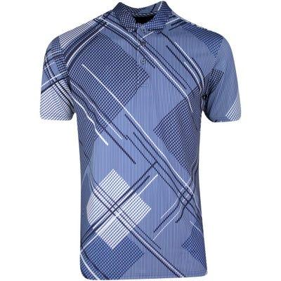 Galvin Green Golf Shirt - Mitchell - Bluebell - Navy SS21