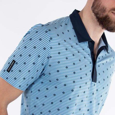 Galvin Green Golf Shirt - Monty - Blue Bell AW21