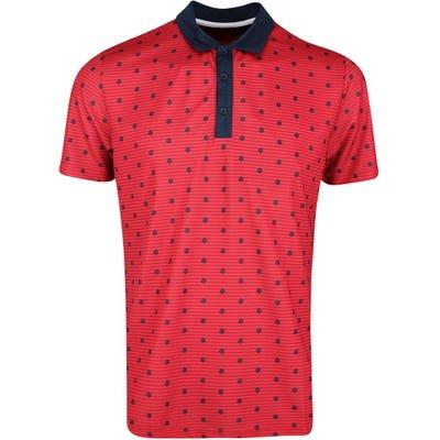 Galvin Green Golf Shirt - Monty - Red SS21