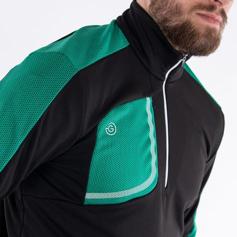 Galvin Green Golf Pullover - Dwight Insula - Black - Green AW21
