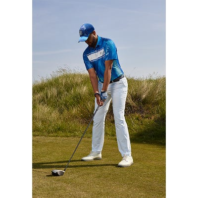 Galvin Green - Blue Waves Print Golf Polo - Links Campaign SS21