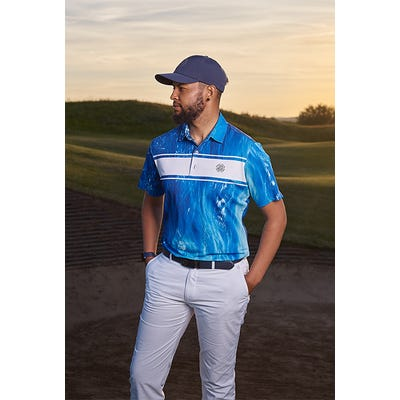 Galvin Green - Ocean Printed Golf Shirt - Links Campaign SS21